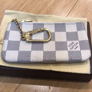 0970cfa4d82 Louis Vuitton Accessories - Louis Vuitton Damier azur canvas key pouch